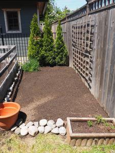 Outer garden- after
